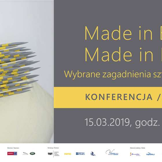 Wykład w ramach konferencji Made in Britain / Made in Poland